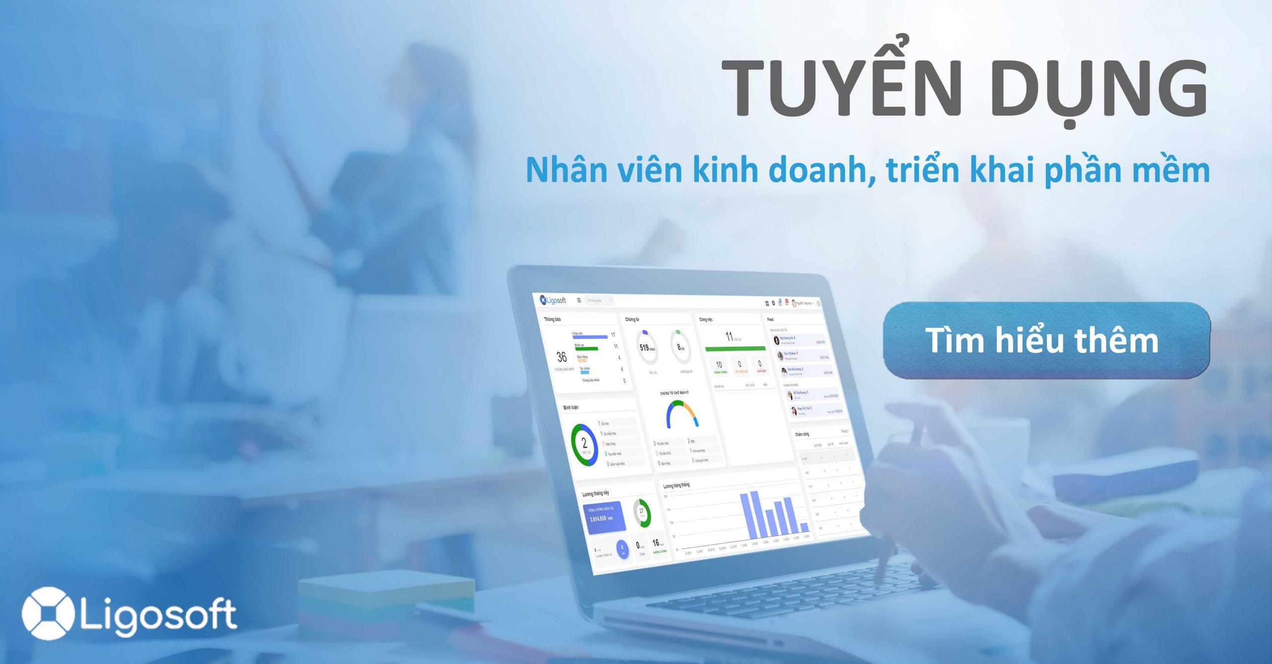 Ligosoft tuyển dụng Kinh doanh, triển khai phần mềm tại Hà Nội, Thanh Hóa