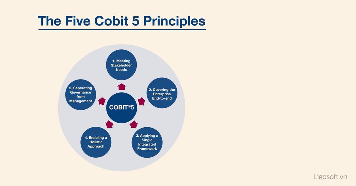 5 nguyên tắc cốt lõi trong cách thức vận hành của COBIT 5
